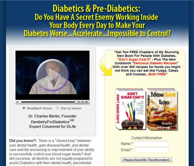 DentistryForDiabetics website