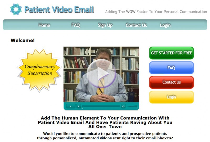 Patient Video Email - HomePag